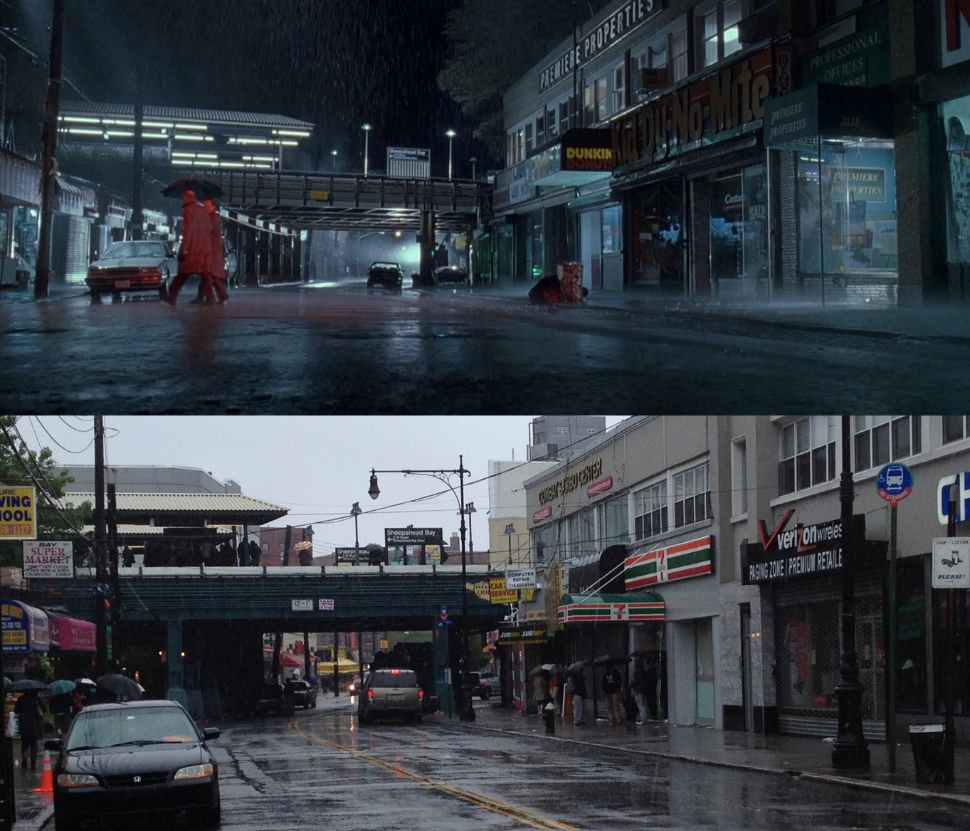 Comparison of Sheepshead Bay subway stop in the movie Glengarry Glen Ross, and present day